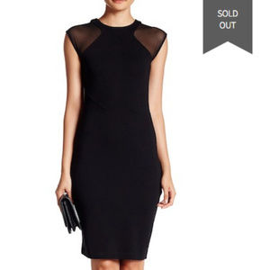 French Connection Black Cap Sleeve Black Dress